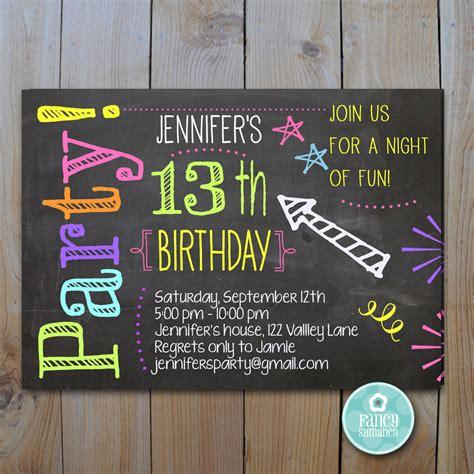 trendy blue neon chalkboard birthday chalkboard invitation birthday neon colors laser tag