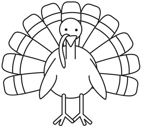 turkey color page turkey coloring pages for preschoolers photo 4