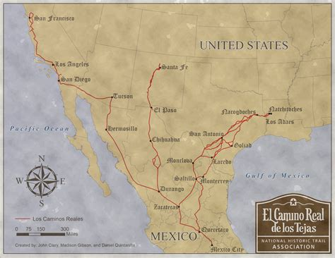 camino trail map national park service and association trail maps el