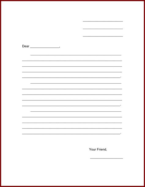 Friendly Letter Template Pdf exle friendly letter proper format 36 friendly letter