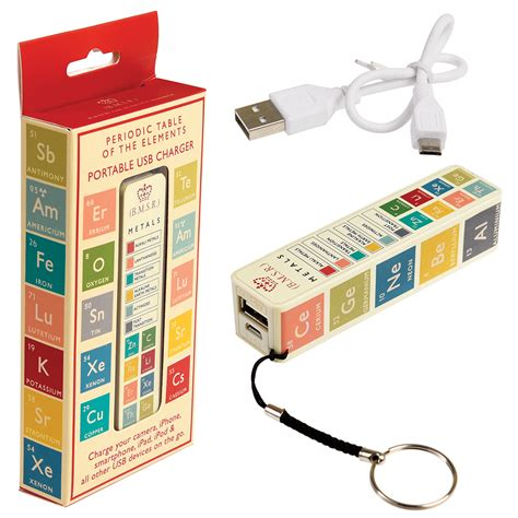 table chargers periodic table usb portable charger rex at dotcomgiftshop