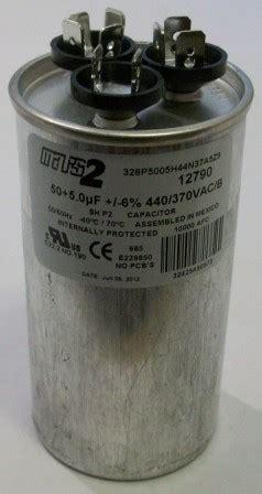 capacitor waste heat 50 5 mfd 440v dual capacitor
