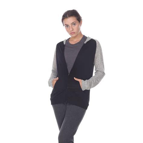 Jaket Zipper Twotone pima apparel 6153c 2 tone zip front pocket hooded jacket new 2018