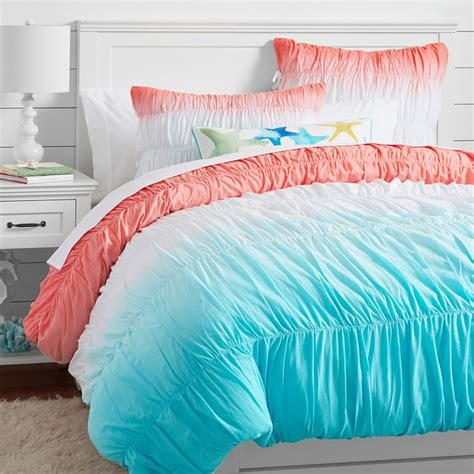 dip dye comforter surf s up with this dip dye ruched bedding bedroom