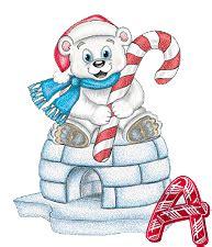 imagenes artisticas de navidad alfabeto navide 241 o con osito polar con pizarr 237 n oh my