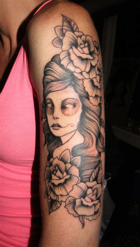 girl arm sleeve tattoo designs top arm tattoos for design images style