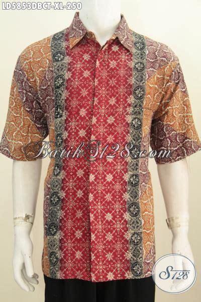 Hem Batik Dolbi baju batik paling keren saat ini hem batik modis lengan pendek bahan kain dolby busana batik
