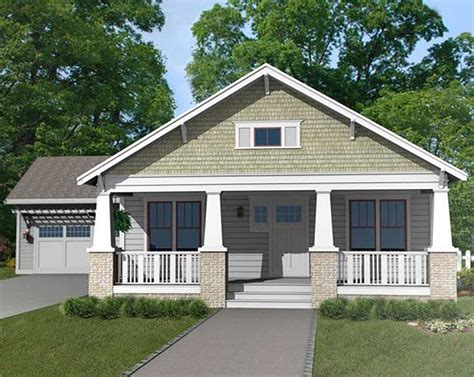 craftsman bungalow with attached garage 50133ph