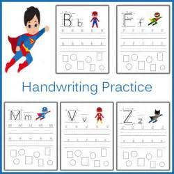Handwriting practice superhero 187 one beautiful home