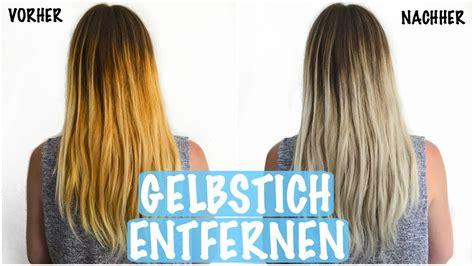Haare Entfärben by Gelbstich Aus Blonden Haaren Entfernen Haare Ohne F 196 Rben