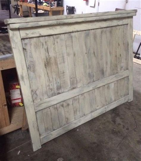 diy farmhouse headboard diy pallet wood farmhouse style headboard 101 pallets pallet craft ideas