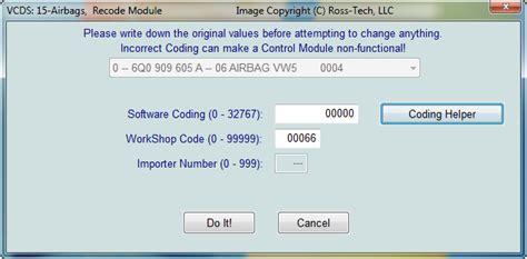 coding shortest ross tech vcds tour recode