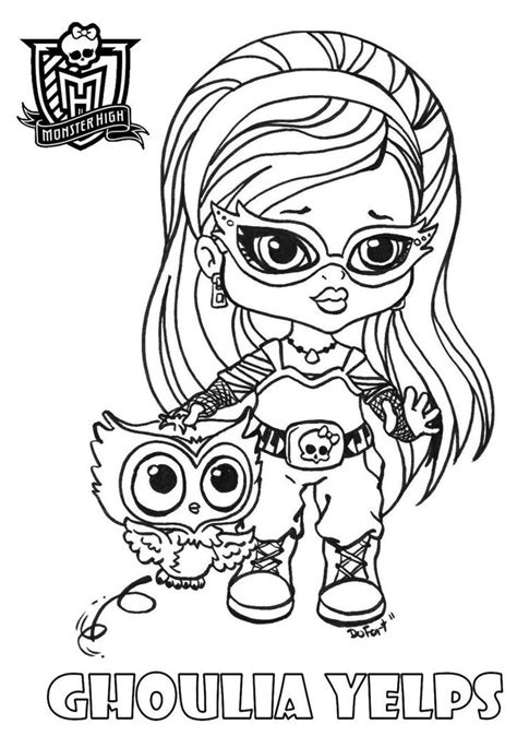 monster high chibi coloring pages monster high coloring pages baby monster high character