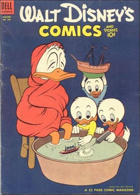 water a duck darley novel books walt disney s comics and stories 160 a jan 1954 comic
