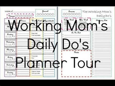 working mom printable planner the working mom s daily do s premium edition planner tour