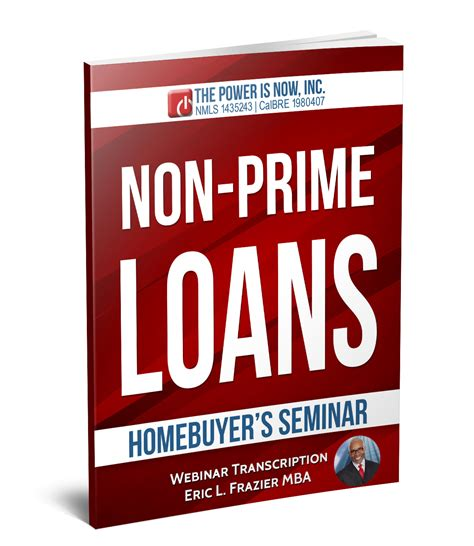 Non Cosigner Student Loans Mba by Non Prime Loans Eric L Frazier Mba The Power Is Now
