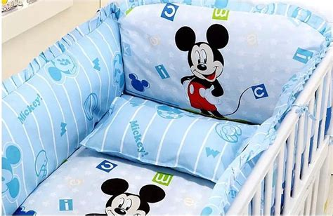 Mickey Mouse Cot Bumper Bedding Sets Discount 5pcs Mickey Mouse Baby Bedding Set Cotton Curtain Crib Bumper Washable Baby Bed 110 65