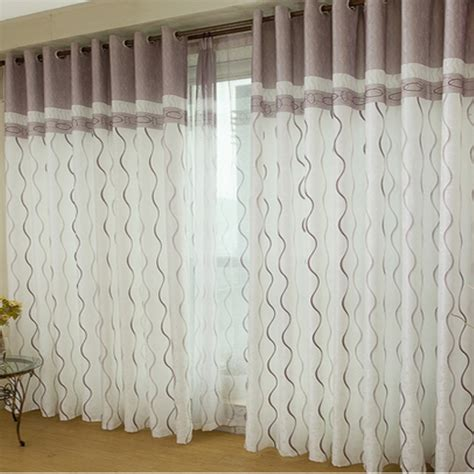 curtain patterns for bedrooms fashion window screens stripe pattern decorative curtain