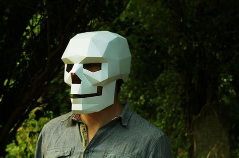A Mask Out Of Paper - diy geometric paper masks that you can print out at home