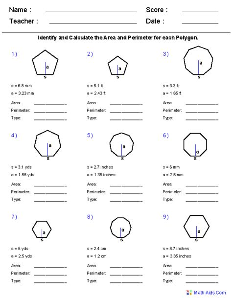 Polygons Worksheet by Geometry Worksheets Quadrilaterals And Polygons Worksheets