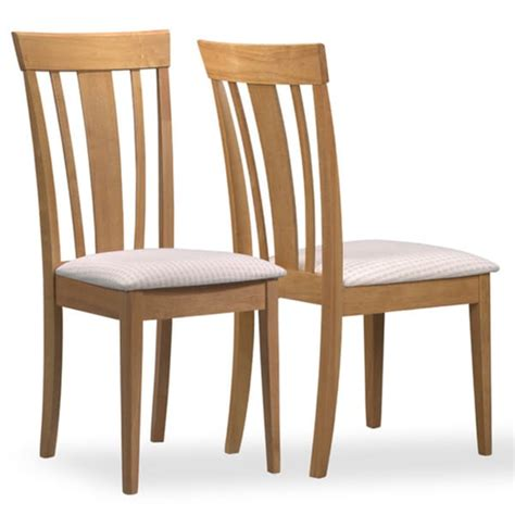 beige upholstered maple chairs set of 2 dining kitchen