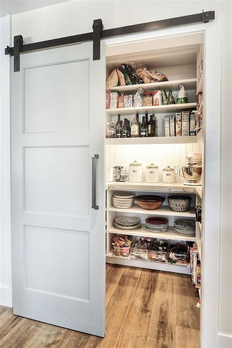 pantry designs 25 trendy kitchens that unleash the allure of sliding barn doors