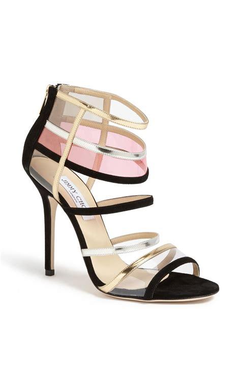 jimmy choo sandals jimmy choo maitai black suede metallic leather sandals
