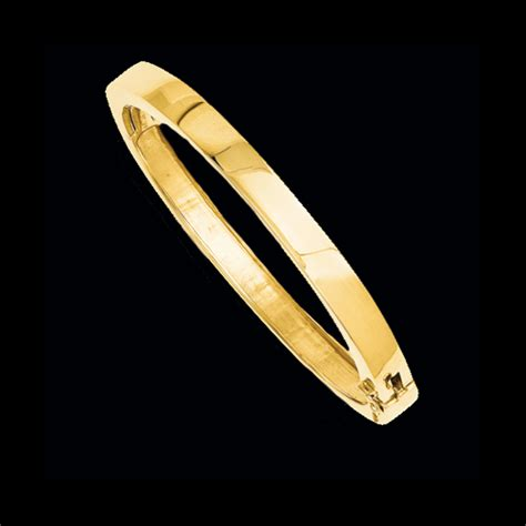 Gold Flat Design Solid Bangle Bracelet