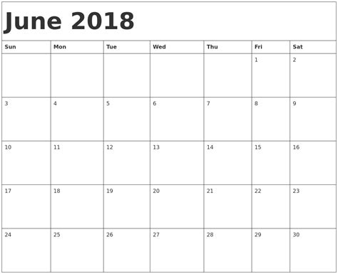 printable calendar july 2017 to june 2018 june 2018 calendar template calendar for 2019