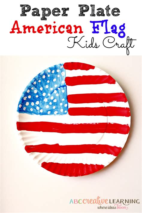 American Paper Crafts - paper plate american flag craft flags paper plate