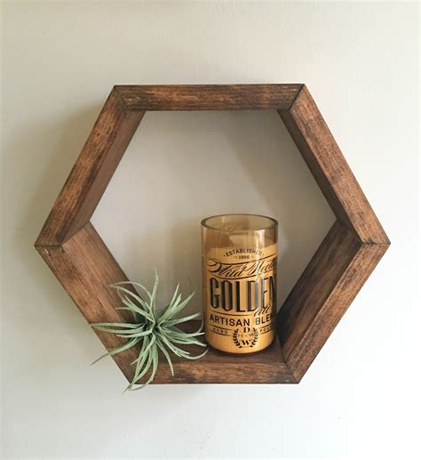 wood box shelves honeycomb shelf hexagon shelf shelf shadow