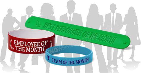 Employee Appreciation Giveaways - employee appreciation day wristbands silicone bracelets