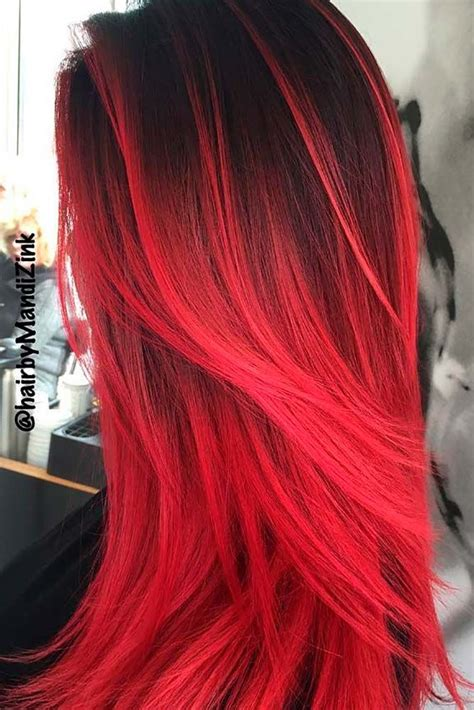 beautiful red ombre hair red ombre hair red ombre