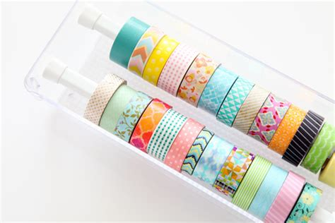 Washing Tape iheart organizing diy washi tape organizer