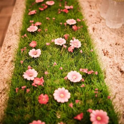artificial grass table runner grass table runners 2m x 0 30 m with or without