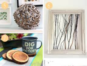 bring nature into your home 7 easy wood craft ideas