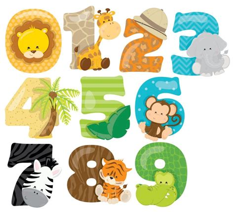 Childrens Wall Stickers Uk safari numbers animals zoo lion nursery wall stickers