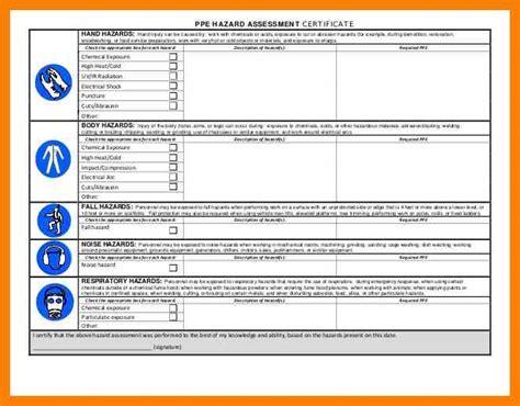 8 hazard assessment form osha computer invoice