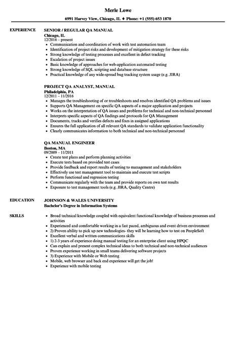 software qa tester resume samples velvet jobs