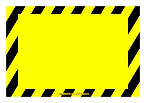 Editable Warning Danger Sign Templates Sb10387 Sparklebox Caution Sign Template