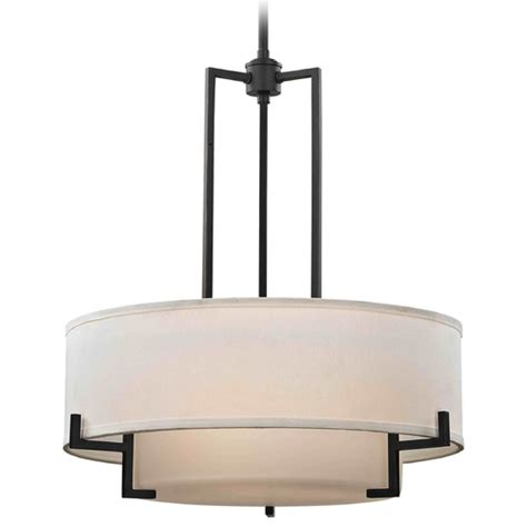 White Pendant Drum Light Modern Drum Pendant Light With White Glass In Bronze Finish 7013 78 Destination Lighting