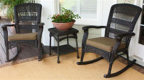 plantation dark roast wicker outdoor rocking chair