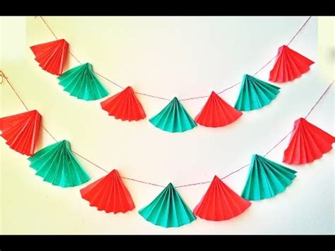 Garland With Paper - easy paper garland