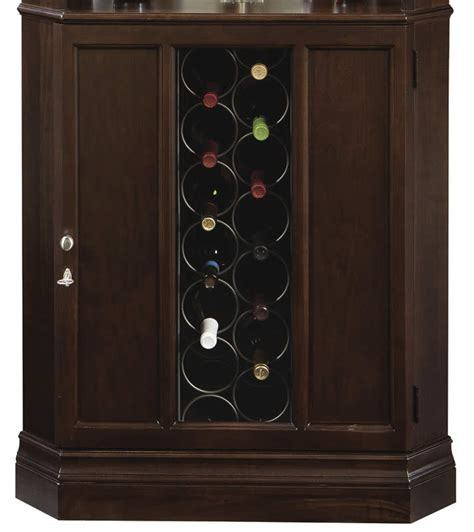 corner wine rack cabinet howard miller traditional finish corner wine bar