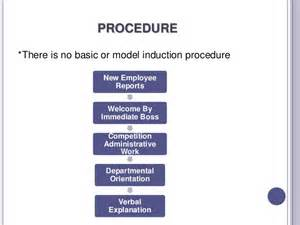 induction procedure template induction and orientation