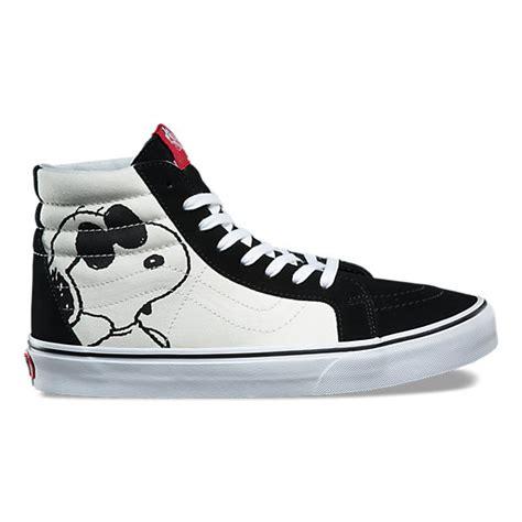 Sepatu Vans Sk 8 Hi Peanuts Snoopy Sneakers Pria vans x peanuts sk8 hi reissue shop shoes at vans