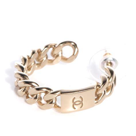Chain Hoop Earrings chanel cc chain hoop earrings gold 73933