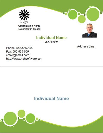 2x6 Business Card Back Word Template by Business Card Template Word Free Designs 1
