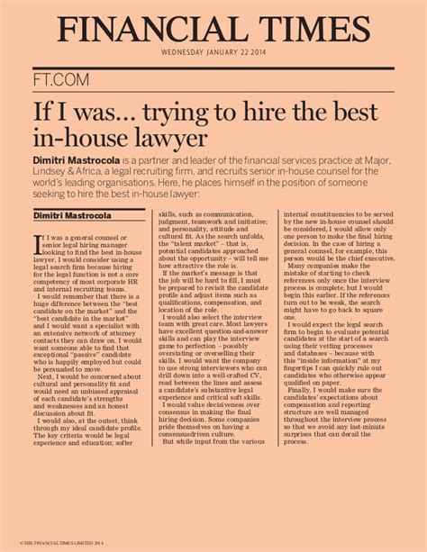 in house lawyer if i was trying to hire the best in house lawyer ft com by dimit