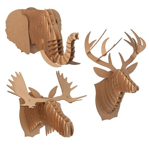 cardboard animal heads animal heads moose and animal